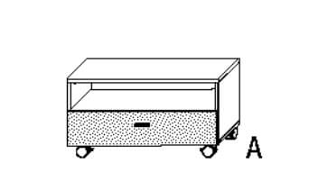 Wellemöbel Jugendzimmer Concrete HiFi-/TV-Wagen
