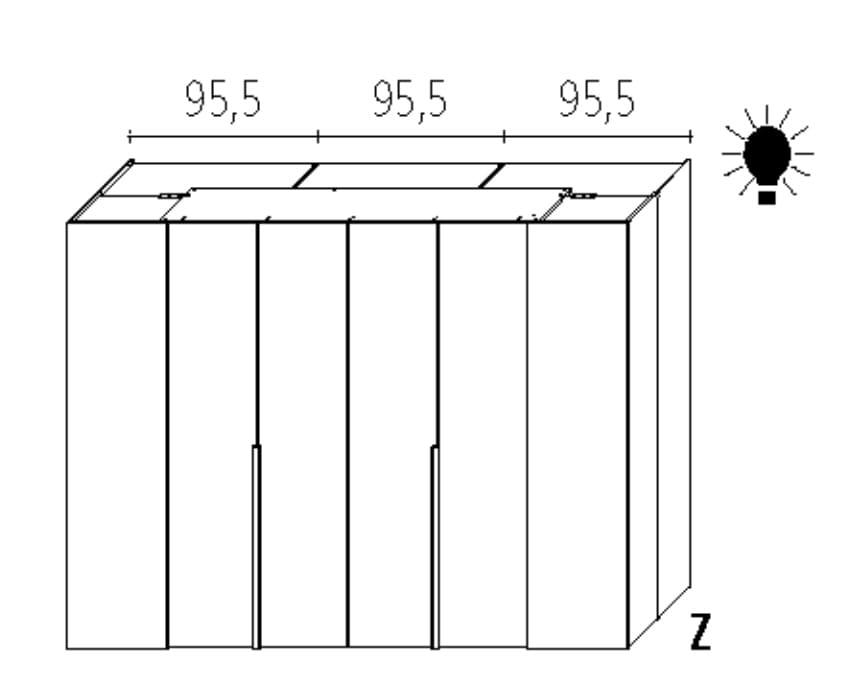 Wellemöbel Schlafzimmer Ineo Comfort - 120 cm Tiefe