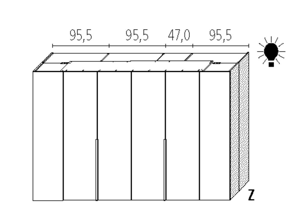 Wellemöbel Schlafzimmer Ineo Basic - 100 cm Tiefe