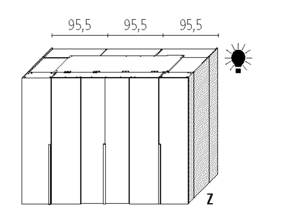 Wellemöbel Schlafzimmer Ineo Deluxe - 160 cm Tiefe