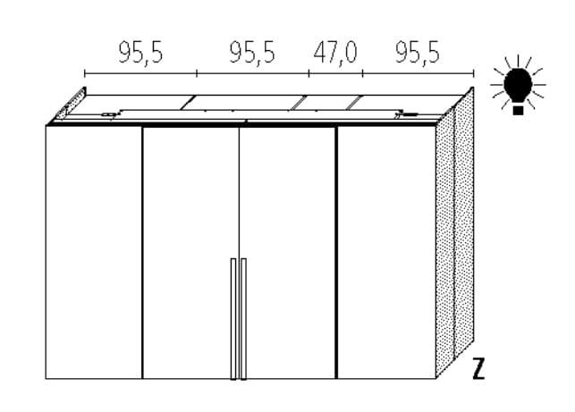 Wellemöbel Schlafzimmer Ineo Comfort Slider - 120 cm Tiefe
