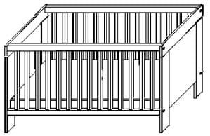 Wellemöbel Babyzimmer Leopold Kinderbett