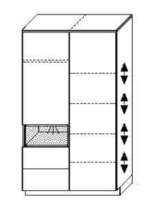 Wellemöbel Babyzimmer Malie Kleiderschrank 2-türig