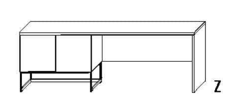 Wellemöbel Jugendzimmer N-Trance Schreibtisch mit Kufe