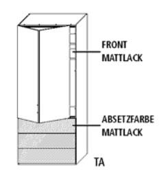 Wellemöbel Schlafzimmer Systema 25 Falttüren-Kombischränke