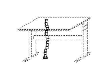 Wellemöbel Büro Updown 3 Kabelbodenführung