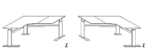 Wellemöbel Büro Updown 3 Ecktischanlage Comfort Corner