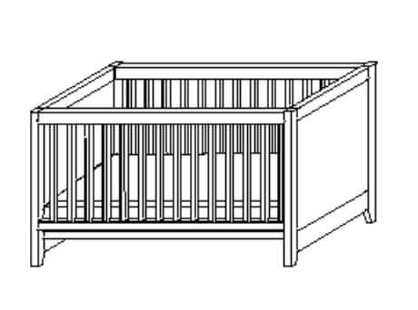 Wellemöbel Babyzimmer Sylt Kinderbett