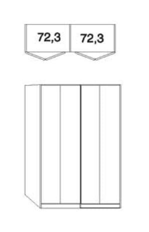 Wiemann Schlafzimmer Kansas Falttüren-Panorama-Schränke B