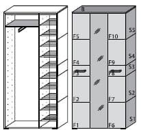 Wittenbreder Massello Kompakt-Garderobe