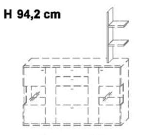 Wöstmann Wohnzimmer Bari 3000 Stollen-Elemente / Zwischenbauelemente
