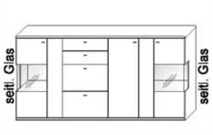 Wöstmann Wohnzimmer Bari 3000 Highboards