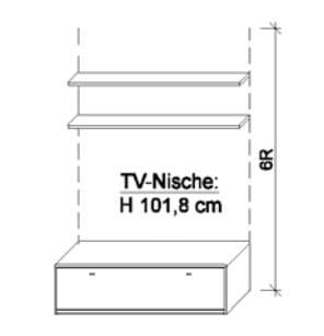 Wöstmann Wohnzimmer Bari 3000 Medien-Zwischenbauelemente