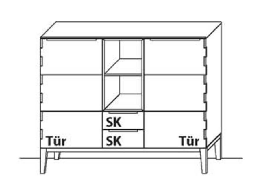 Wöstmann Wohnzimmer C100 Highboarde