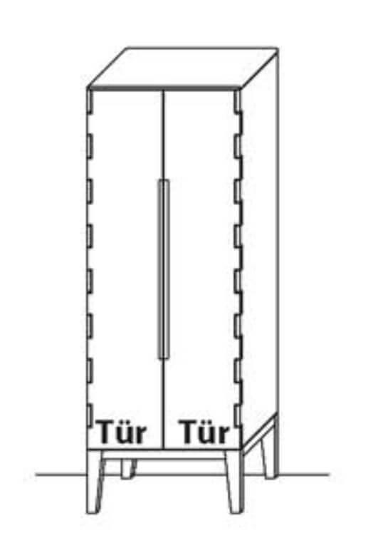 Wöstmann Wohnzimmer C100 Zeilenschrank