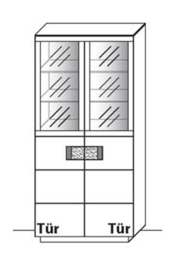 Wöstmann Wohnzimmer C200 Vitrinen