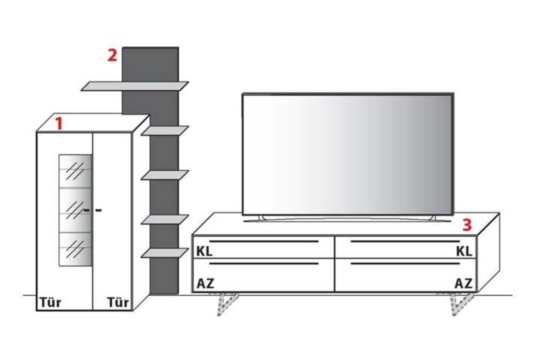 Wöstmann Wohnzimmer Levanto Kombination