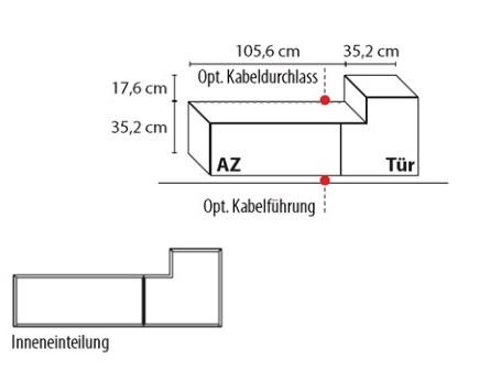 Wöstmann Wohnzimmer NW440 Hängeelemente