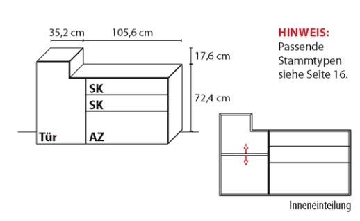 Wöstmann Wohnzimmer NW440 Sideboarde