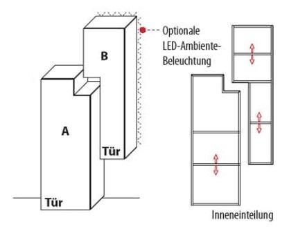 Wöstmann Wohnzimmer NW440 Beimöbelkonfiguration