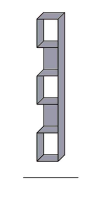 Wöstmann Wohnzimmer NW550 L-Wandborde / Hängeregal