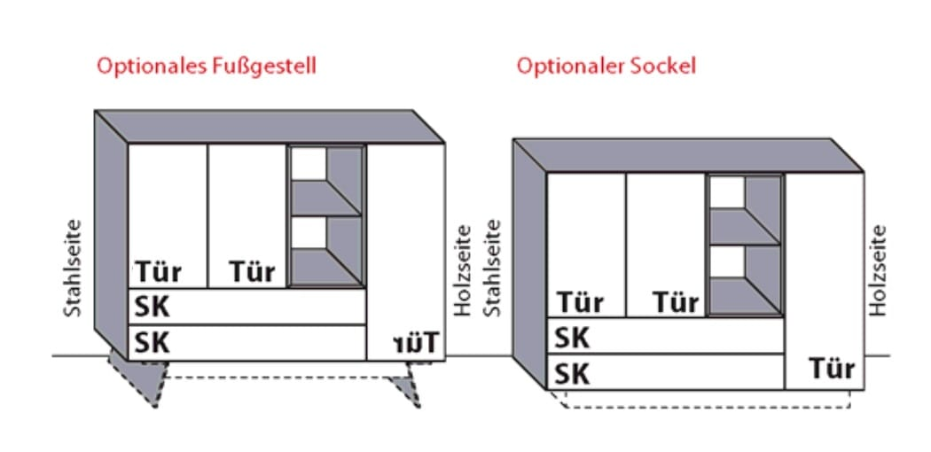 Wöstmann Wohnzimmer NW550 Highboards