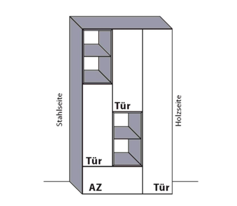 Wöstmann Wohnzimmer NW550 Stauraumschränke