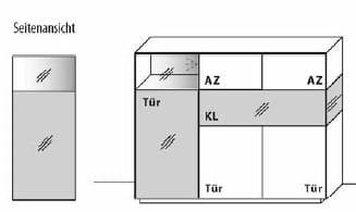 Wöstmann Wohnzimmer NW770 Highboarde