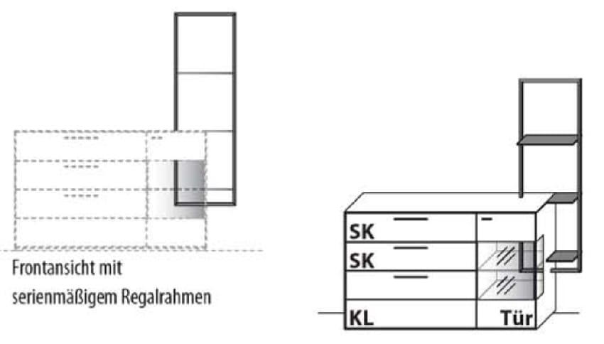 Wöstmann Wohnzimmer WM 1880 Sideboarde
