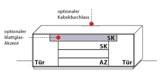 Wöstmann Wohnzimmer Sineo Sideboarde